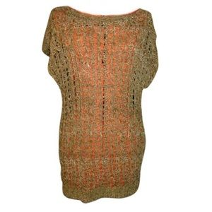 CONGO AGENCIES Woven Leather Tunic Top